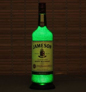 Jameson Whiskey Liquor Bottle Lamp Bar Light Eco LED Sparkle Bodacious