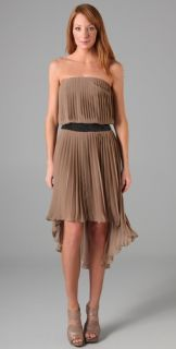 Haute Hippie Strapless Belted Dress