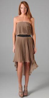 Haute Hippie Strapless Belted Dress