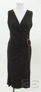 Jasper Conran Black Knit Sleeveless V Neck Dress Size 10