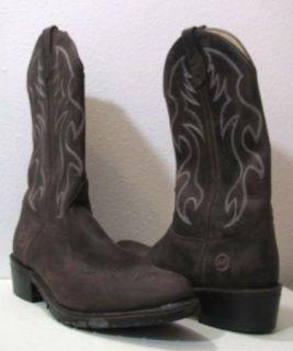 Double H Mens Dark Brown Unique Western Work Boots Cowboy G14256 Sz 10