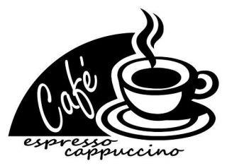 Coffee Café Java Vinyl Decal Wall Sticker Kitchen Espresso Lettering