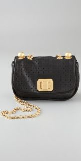 Juicy Couture Perforated Heart Chain Lock Mini Bag