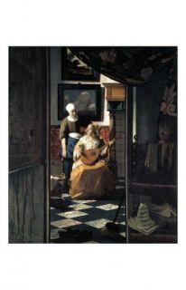 Jan Vermeer Art Poster The Love Letter