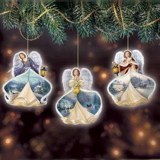 Thomas Kinkade Christmas Ornaments 15 08298 002 Winter Angels of Light