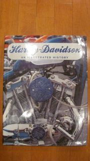 Harley Davidson An Illustrated History Hard Bound Coffee Table   Nice