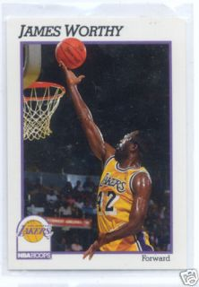 1991 James Worthy NBA Hoops Card 106 La Lakers UNC Tar Heels Big Game