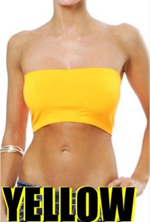 Seamless One Size Fits All Bandeau Bra Tube Top Spandex