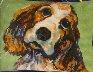 Janlynn Sara Counted Cross Stitch Kit Springer Spaniel Dog Puppy New
