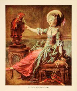 In Print Mischief Girl Toys Play Jean Honore Fragonard Portrait Art