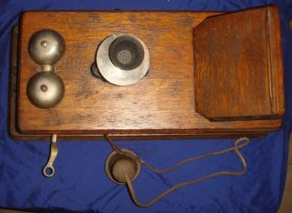 SE076 Antique Vtg Stromberg Carlson Telephone Mfg. Co. Wall Phone