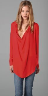 Haute Hippie Silk Tunic Blouse