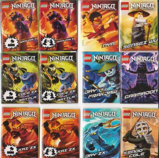 of 12 LEGO Ninjago Master of Spinjitzu playguide Jay Nya Cole Garmadon