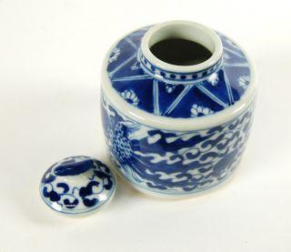 Ceramic Handpainted Jar Lid Chinese Phoenix Art Gift AA