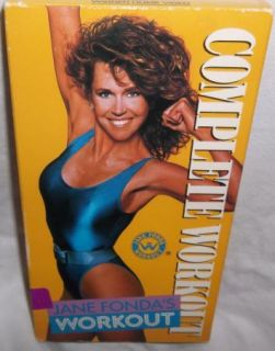 Jane Fondas Complete Workout VHS Exercise Video Tape Classic Retro