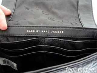 Marc by Marc Jacobs Totally Turnlock Jane Shine Black Gold Bag Clutch