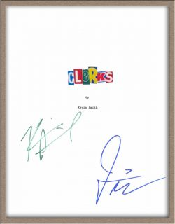 Jason Mewes Kevin Smith Signed Clerks Movie Script rpt
