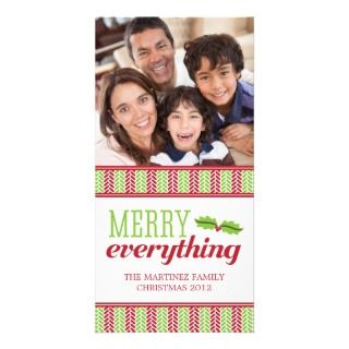 Herringbone Merry Everything Christmas Photo Card