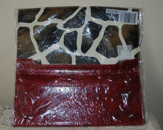 Miche Shell for Classic Bag Jayma Red Black Giraffe Faux Leather NIP