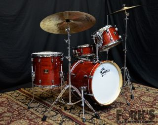 Gretsch Catalina Club Jazz 4 Piece Drum Set Ruby Gloss