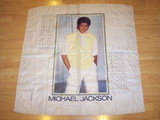 Michael Jackson Cloth Fabric Wall Poster Vintage 1983