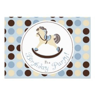Rocking Horse Invitation Photo Card 2