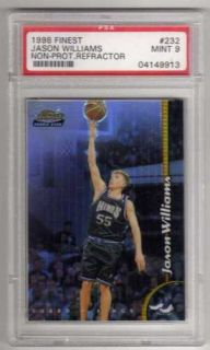 1998 Finest 232 Jason Williams PSA Graded 9 Card