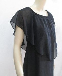 Sublime by Jay Godfrey Sz XL Sarafina Chiffon Dress Black