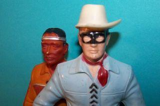 Plastics Inc Lone Ranger & Tonto Figures Clayton Moore Jay Silverheels