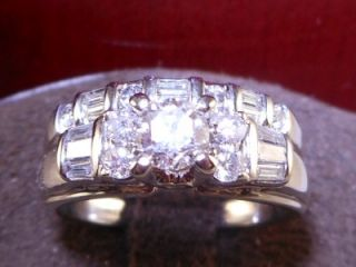 Certified Jared Round Diamond White Gold Engagement Ring Bridal Set