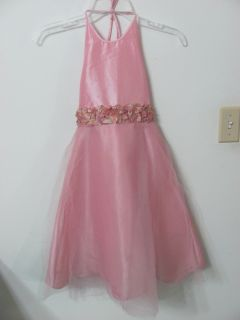 Girls 6 Pink Jayne Copeland Dress Flower Girl Party Picture Free