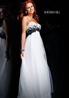 Sherri Hill 3701 Empire Waist Beaded Formal Gown Dress Size 8 New