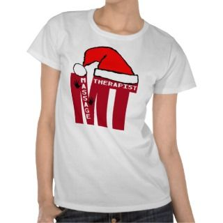 MT SANTA   MASSAGE THERAPIST CHRISTMAS SANTA TEE SHIRTS