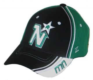 Minnesota North Stars NHL Hockey Silver Slash Flex Fit Fitted Hat Cap