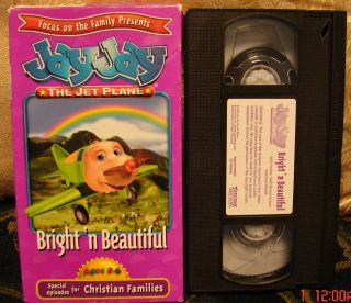 Jay Jay The Jet Plane Bright N Beautiful VHS Christian Video Focus on