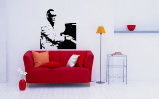 Decals Art Mural Piano Player Singer Pop Music Jazz D2175