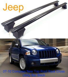 2007 2010 Jeep Compass Top Roof Rack Cross Utility Bar Black