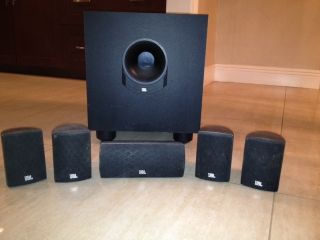 JBL Home Theater Surround Speakers 136SISAT Four satellites center and