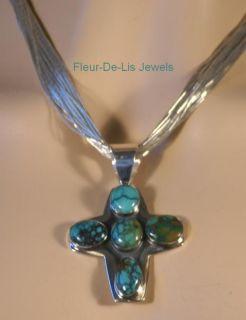 Jay King Mine Finds Hubei Turquoise Cross Pendant