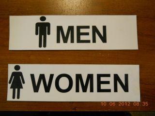 Restroom Bathroom Vinyl Sign