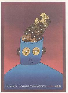 Jean Michel Folon Poster Print LAudio Visuel