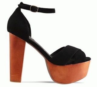 JEFFREY CAMPBELL Wedge   CARMEN in black   brand new / size 9 With Box