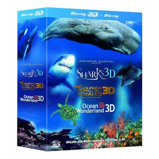 Jean Michel Cousteaus Film Trilogy IMAX 3D Blu Ray 3 Disc Set New