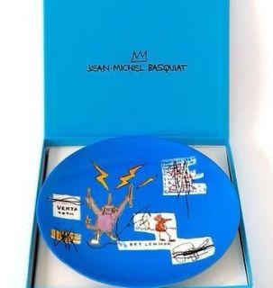 Jean Michel Basquiat Limoges Porcelain Plate Venta Total by Ligne