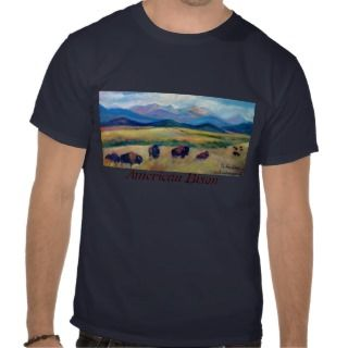 Bison and the Spanish Peaks T shirt