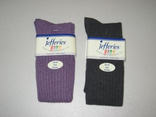 Jefferies Socks Over The Knee High Socks Tights Leggings Ribbed Purple