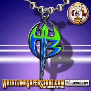 WWE TNA Jeff Hardy Purple Green Logo Pendant