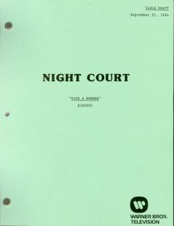 COURT set of 17 scripts   Harry Anderson Markie Post John Larroquette