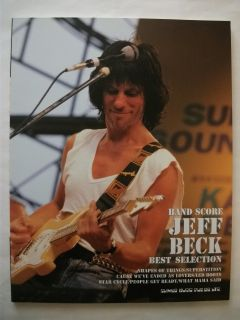 Jeff Beck Best Selection Japan Band Score Tab