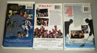 SPACE JAM, D2 THE MIGHTY DUCKS, & D3 THE MIGHTY DUCKS 3 VHS Movie